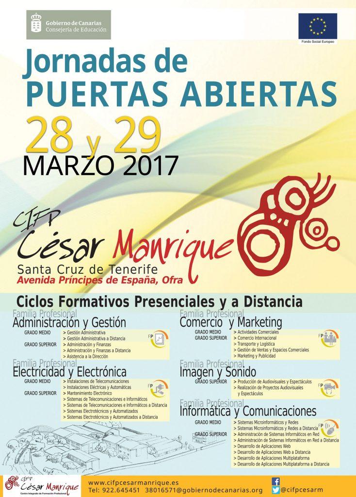 CARTEL PUERTAS ABIERTAS MARZO 2017 A3 peque