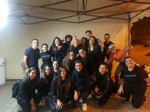 Alumnado de Imagen y Sonido en el Festival de Cortos de la Orotava