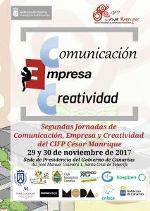 Cartel Segundas Jornadas de Comunicación, Empresa y Creatividad