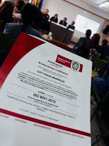 Entrega Certificado ISO 9001:2015
