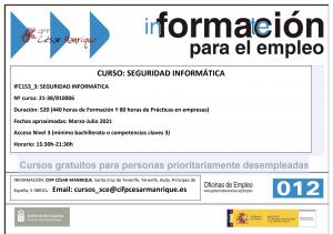 Certificado de profesionalidad: seguridad informática