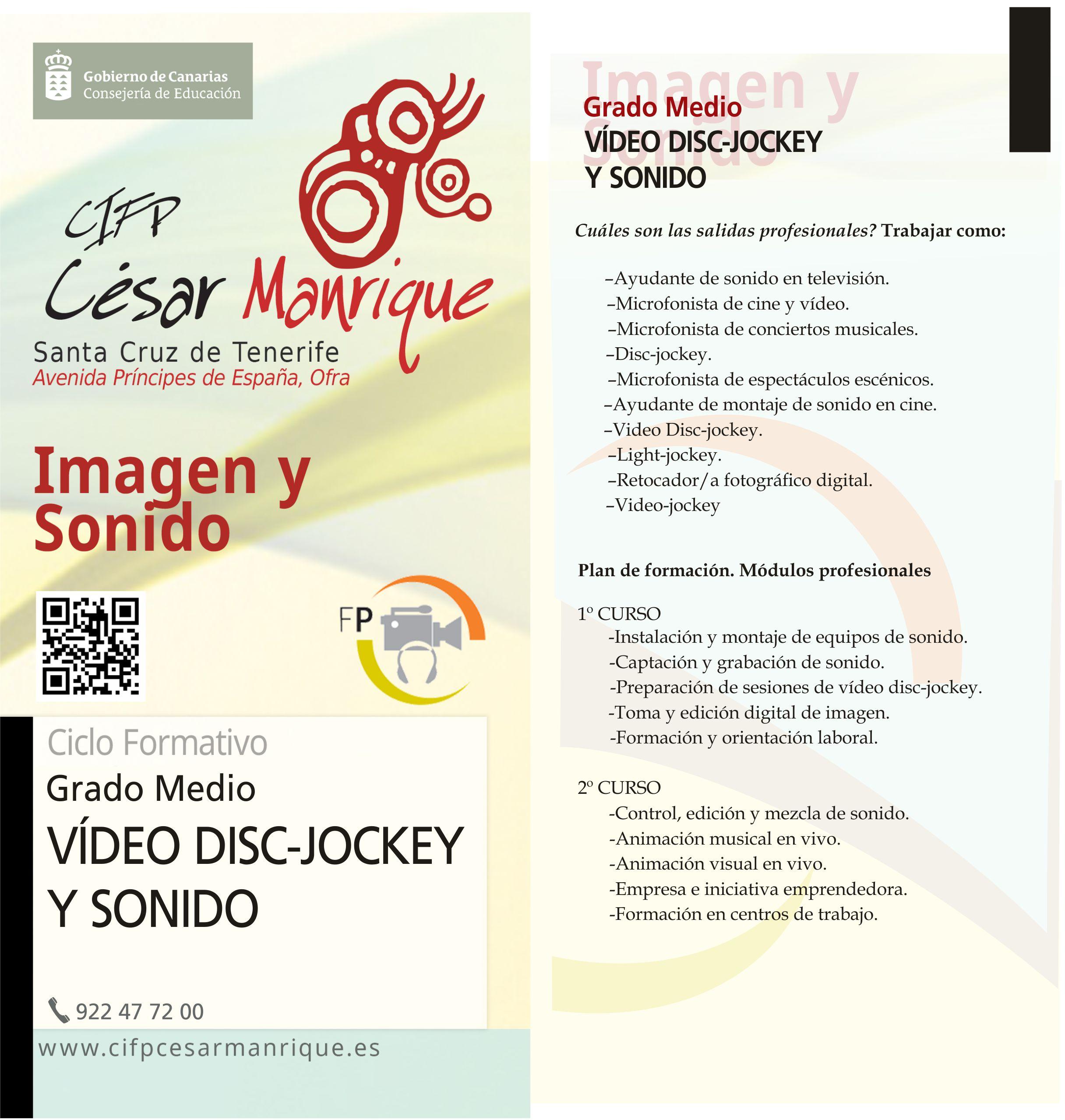 Grado Medio Video Disc-Jockey y Sonido